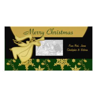 Elegant Christmas holiday greeting Photo Card