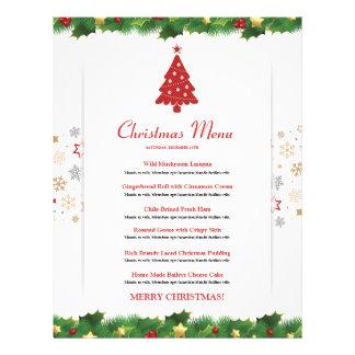 Elegant Christmas  Menu Card 21.5 Cm X 28 Cm Flyer