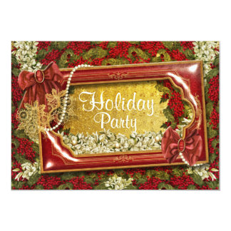 Elegant Christmas party office customizable Card