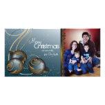 Elegant Christmas Photo Card Ornaments & Swirls