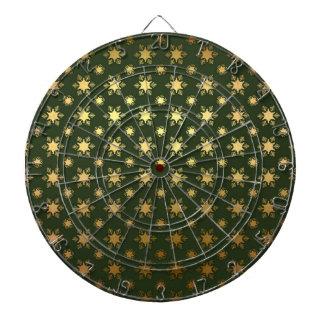 Elegant Christmas Snowflake Gold Foil Pattern Dartboard