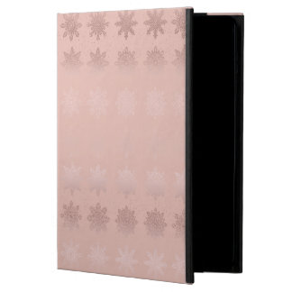 Elegant Christmas snowflake rose gold pattern Case For iPad Air