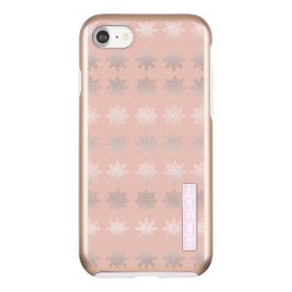 Elegant Christmas snowflake silver rose gold Incipio DualPro Shine iPhone 8/7 Case
