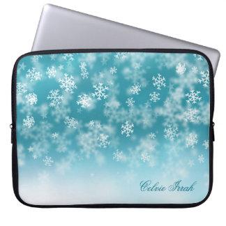 Elegant Christmas Snowflakes | Laptop Sleeve