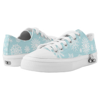 Elegant Christmas Snowflakes | Low Top Shoes