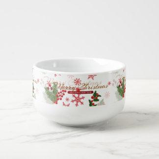 Elegant Christmas Soup Mug