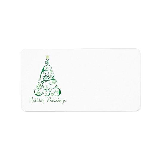 Elegant Christmas Tree Address Label