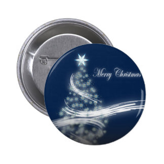 Elegant Christmas Tree and Star Pinback Buttons