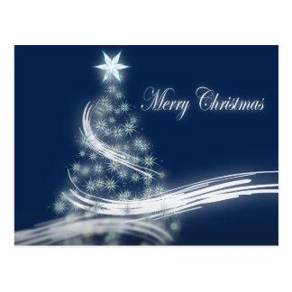 Elegant Christmas Tree and Star Postcard