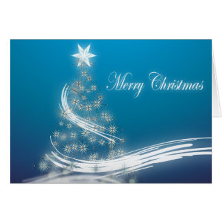 Elegant Christmas Tree Corporate Holiday Greeting Card