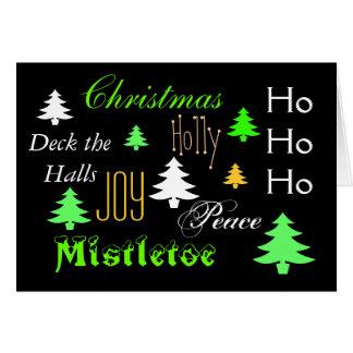 Elegant Christmas tree greeting Greeting Card