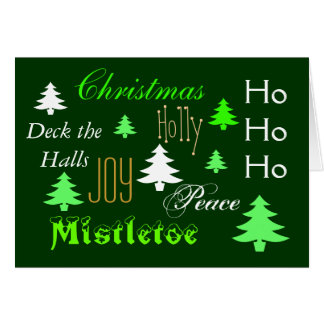 Elegant Christmas tree greeting Greeting Card