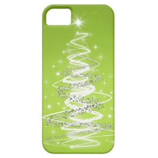 Elegant Christmas Tree Lime Green iPhone 5 Cover