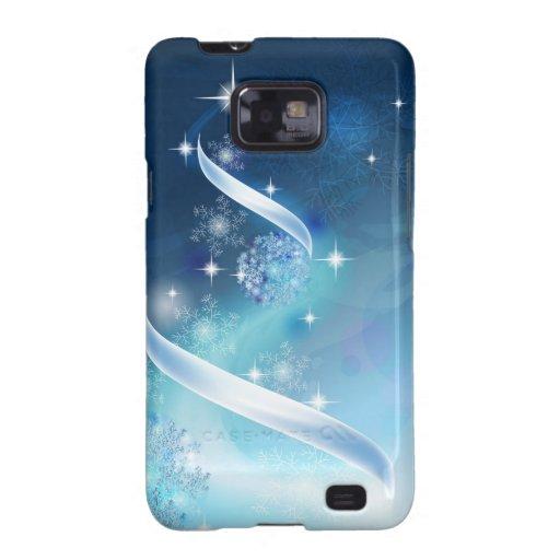 Elegant Christmas Tree with robins Samsung Galaxy S2 Cover