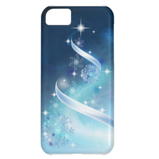 Elegant Christmas Tree with robins iPhone 5C Case