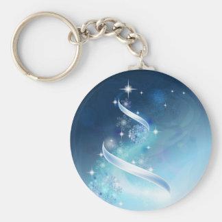 Elegant Christmas Tree with robins Keychain