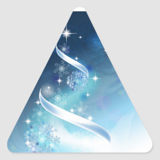 Elegant Christmas Tree with robins Sticker