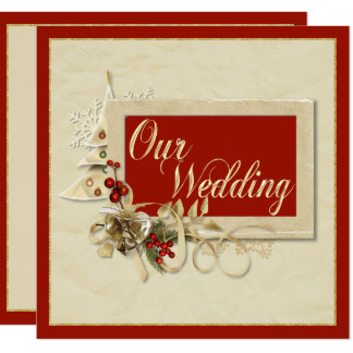 Elegant Christmas Wedding Invitation