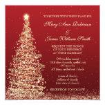 Elegant Christmas Wedding Red 13 Cm X 13 Cm Square Invitation Card