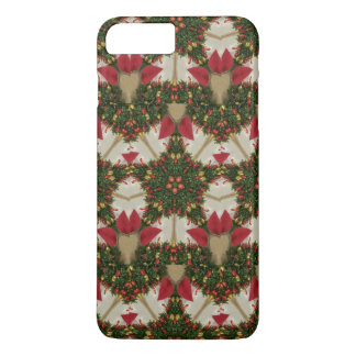 Elegant Christmas Wreath Red Green Kaleidoscopic iPhone 8 Plus/7 Plus Case
