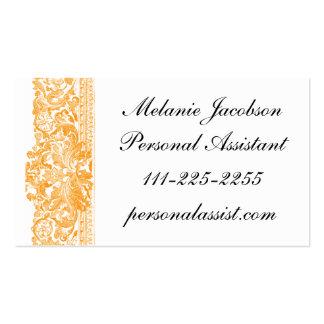 Elegant Cinnamon Brocade border business card