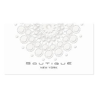 Elegant Circle Motif White Business Card Templates