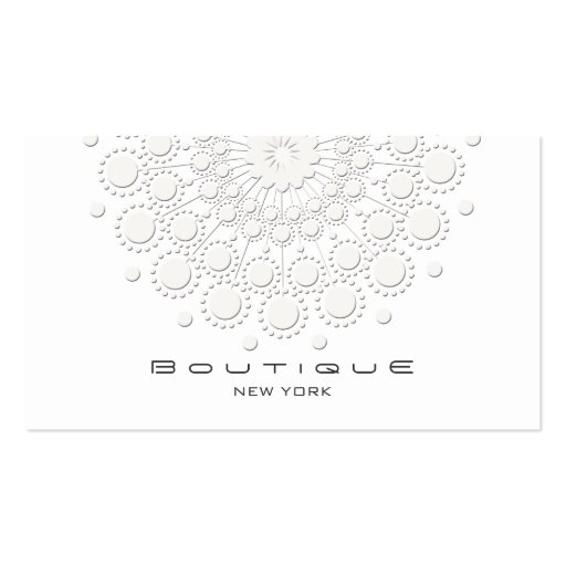 Elegant circle motif white on white zazzle for Circle business card template