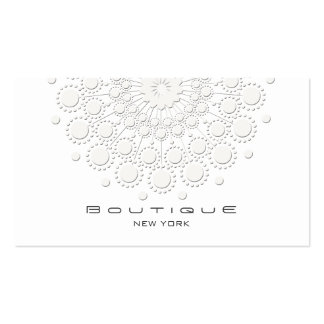 Elegant Circle Motif White on White Pack Of Standard Business Cards