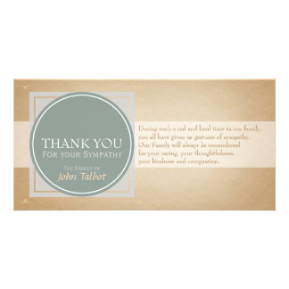 Elegant Circle Square Tags Sympathy Thank you P Photo Cards