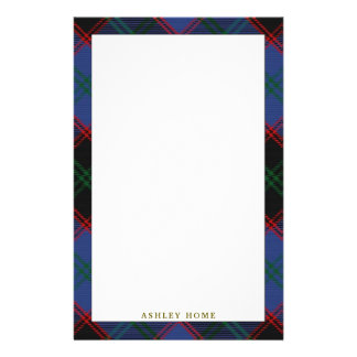 Elegant Clan Home Hume Tartan Plaid Stationery