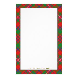 Elegant Clan MacKinnon Tartan Plaid Stationery