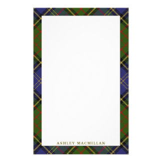 Elegant Clan MacMillan Hunting Tartan Plaid Stationery