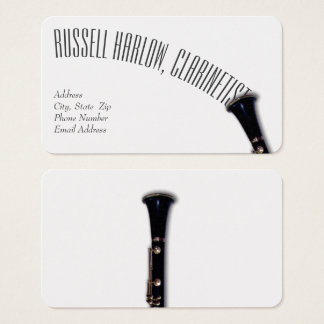 Elegant Clarinet Business Card
