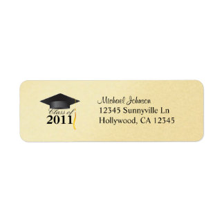Elegant Class of 2011 Gold Return Address Label