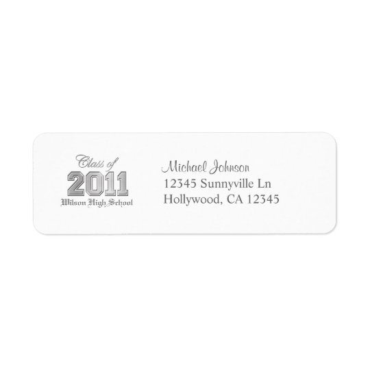 Elegant Class of 2011 Return Address Label