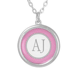Elegant, classic pink and white chevron zigzag custom jewelry