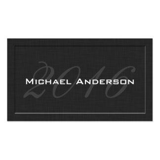 Elegant Classic Senior Class Graduation Name Card Pack Of Standard Business Cards
