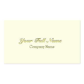 ELEGANT CLASSIC VINTAGE CREAM CREAM NUPTIAL PACK OF STANDARD BUSINESS CARDS