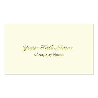 ELEGANT CLASSIC VINTAGE CREAM CREAM NUPTIAL PACK OF STANDARD BUSINESS CARDS