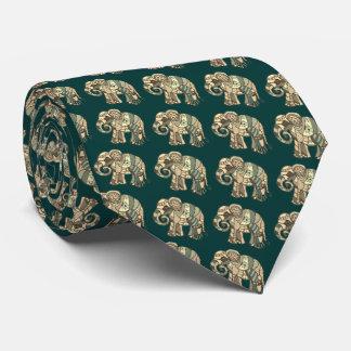 Elegant classic vintage ornamental elephants tie