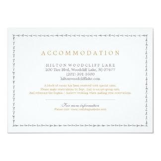 Elegant classic vintage wedding accommodation 11 cm x 16 cm invitation card