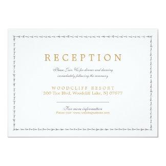 Elegant classic vintage wedding reception card 11 cm x 16 cm invitation card