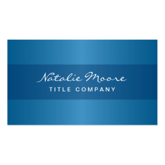 Elegant classy blue professional generic pack of standard business cards