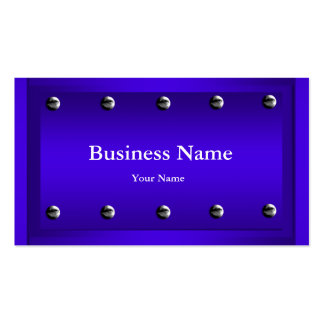 Elegant Classy Blue Silver Metal Chrome look Pack Of Standard Business Cards