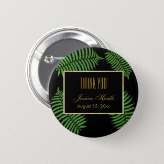 Elegant Classy Bracken Birthday Thank You 6 Cm Round Badge