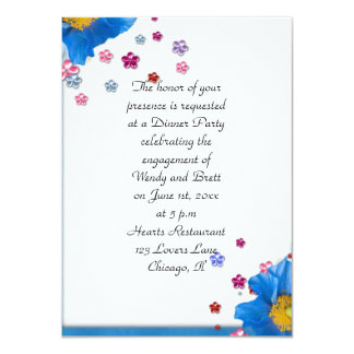 Elegant Classy ChiChi Floral Wedding Engagement Personalized Announcements
