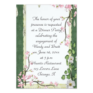 Elegant Classy ChiChi Floral Wedding Engagement Invites