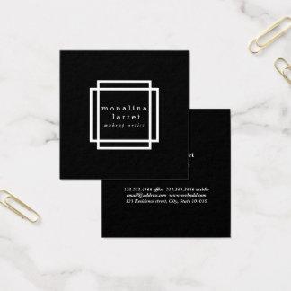 Elegant Classy Design Minimalist Black Square Business Card