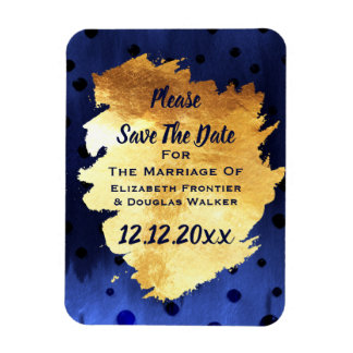 Elegant Classy Faux Gold Wedding Save The Date Magnet