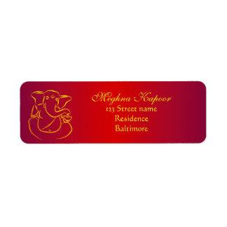 Elegant Classy Ganesh/ Indian God Address Labels